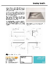 Veitch stainless steel baby bath product data sheet