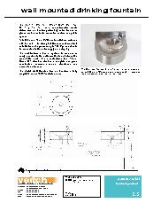 Veitch Wall mount drinking fountain product information sheet
