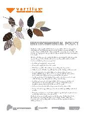 Vertilux Environmental Policy
