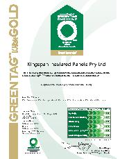 Wall panels Green Tag certificate